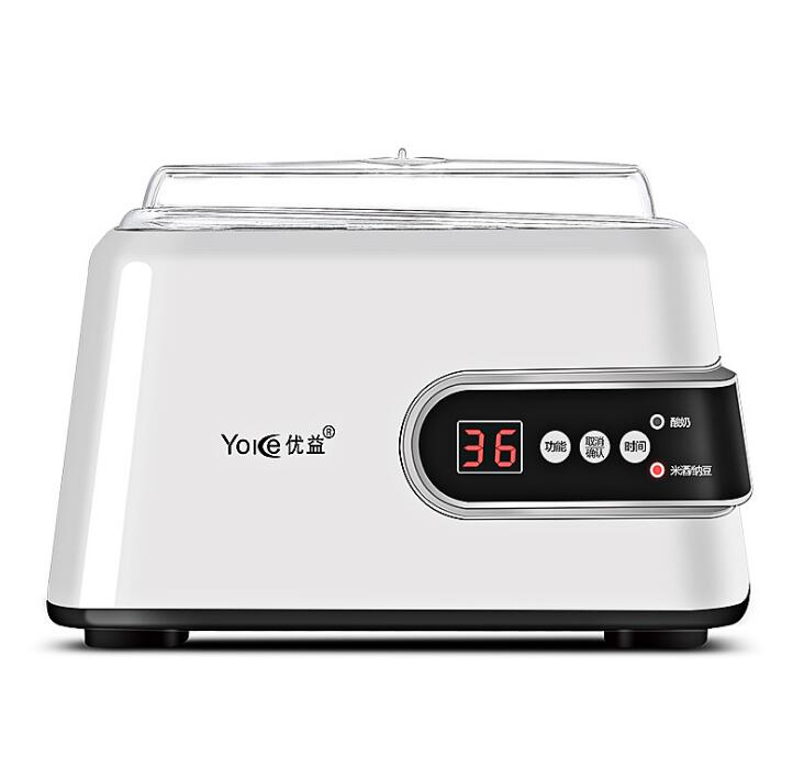 Automatic Multi-Function Yogurt Makers Natto Rice Wine 1.3L Liner Microcomputer Control 304 Stainless Steel 220-240V 15W