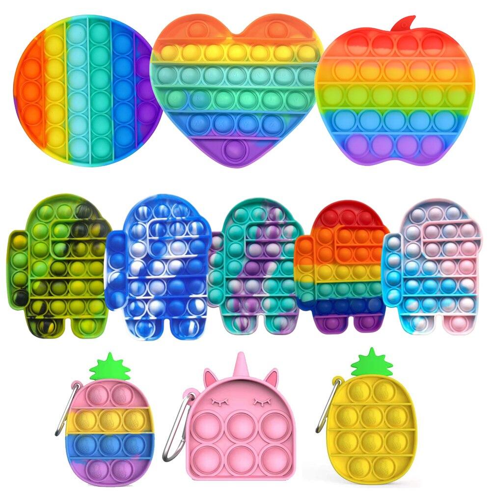 Непоседа Reliver стресс пуш-ап пузырь сенсорные poppit игрушка для аутистов потребности мягкие игрушки для снятия стресса для взрослых и детей см...