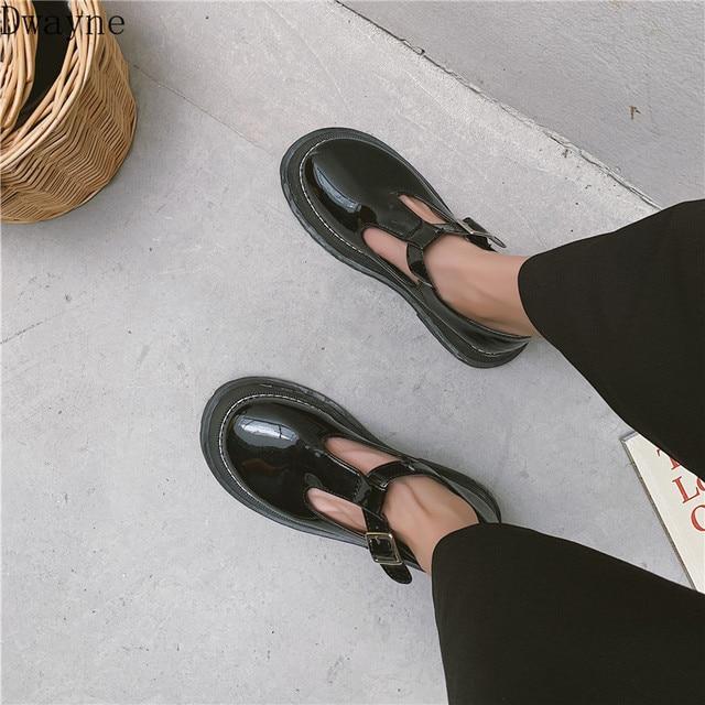 Petit cuir chaussures femme britannique vent 2019 été nouveau Mori fille japonais sauvage noir rétro Mary Jane chaussures mot boucle