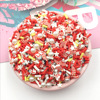 20g Mixed Christmas Crutch Snowman Slices Polymer Hot Clay Sprinkles For Crafs DIY Nail Arts Tiny Cute plastic klei Accessories