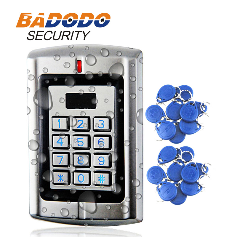 1000users Metal Rainproof Stand-alone Access Keypad Reader Wiegand 26 For 125Khz EM Card