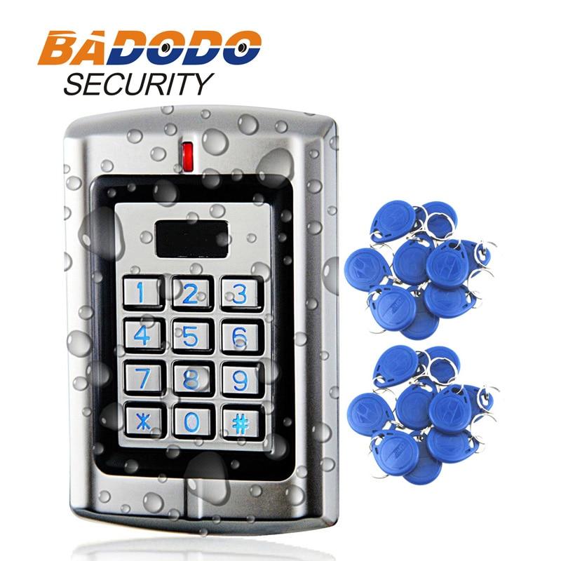 Sebury 1000users Metal Rainproof Stand-alone Access Keypad Reader Wiegand 26 For 125Khz EM Card