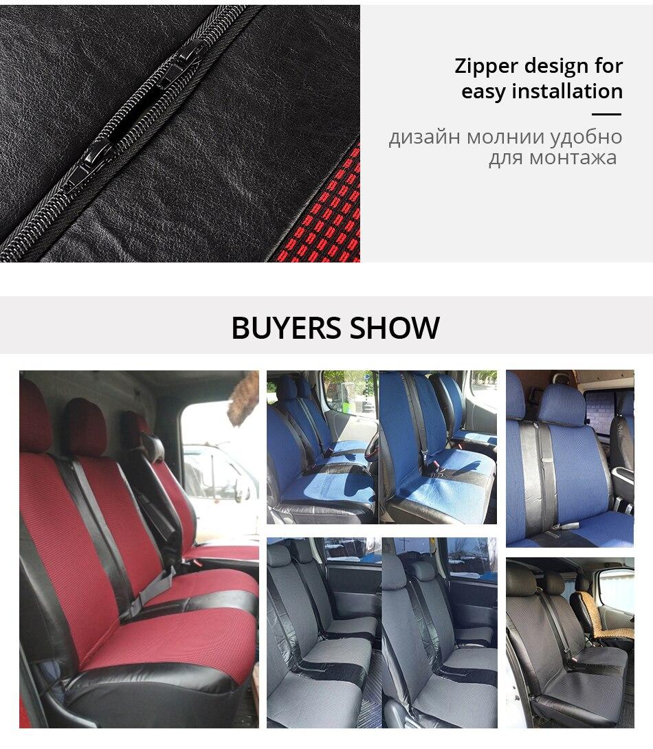 Van Fundas De Asiento Impermeables de tránsito Vivaro Vauxhall Movano Vito Ford Universal