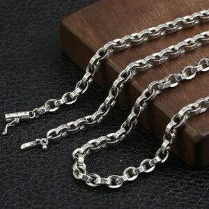 Image 5 - 59 Cm Gratis Verzending Groothandel 100% Echte Pure 925 Sterling Zilveren Ketting 9 Mm Dikke Ketting Mannen Gift Thai Zilver lange Ketting