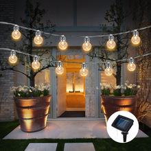 6M 20 światła LED Solar USB bateria światło ciąg ananas kształt kuli oświetlenie dekoracyjne ciąg festiwal ogrodowa dekoracja ślubna tanie tanio NoEnName_Null solar waterproof boluodeng IP65 4 5 v Klin Żarówki led Nowość HOLIDAY Ni-mh