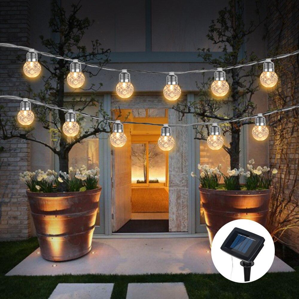 6M 20 Lights LED Solar/USB/Battery Light String Pineapple Ball Shape Decorative Light String Festival Garden Wedding Decoration