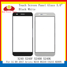 10Pcs/lot Touch Screen For LG K8 2017 Aristo M210 MS210 US215 M200N Touch Panel Front Outer X240 X240F X240H LCD Glass Lens for lg m210 k8 2017 m210 lcd display screen touch digitizer screen black and silver glass touchscreen with logo in stock