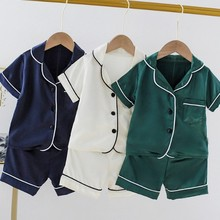 Clothing-Sets Sleepwear Pajama-Sets Girls Baby-Boys Summer Bear Kids Children Cute