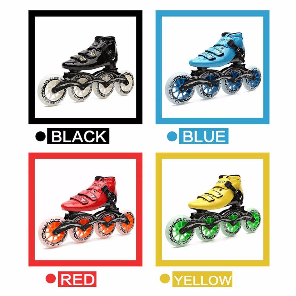 Dubbele Rij Rolschaatsen 4 Wiel Skates Voor Meisjes Aluminium Basis Polyurethaan PU90A Wielen Zwart PU Schoenen Roze Wielen Verzending - 4