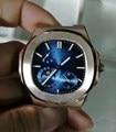 Luxus Marke Neue Automatische Mechanische Männer Uhr Saphir Silber Schwarz Blau Mondphase Uhren Silber Jumbo Sport Begrenzte Uhren