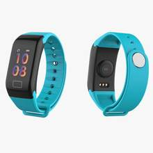 Waterproof F1 Smart Bracelet Heart Rate Monitor Blood Pressure Smart Band Health Fitness Tracker Smart Wristband for Android iOS(China)