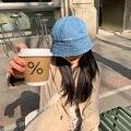 2021 Складная вышитая джинсовая Панама с алфавитом, Солнцезащитная шляпа, Рыбацкая шляпа, модные кепки, хип-хоп Панама с буквами