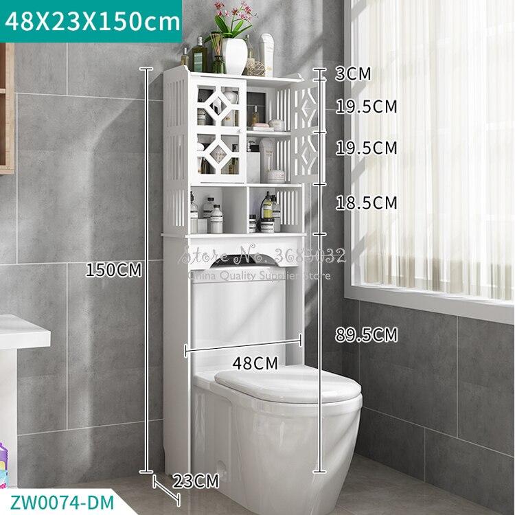 Практичный туалет для хранения Space Saver Полотенца полка современный Ванная комната шкаф, домашняя мебель Водонепроницаемый и легко чистить