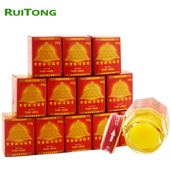 12pcs/lot Vietnam Gold Tower Balm Active Cream Muscle Aches Extra Strength Pain Relieving Arthritis Joint Pain Tiger Balm