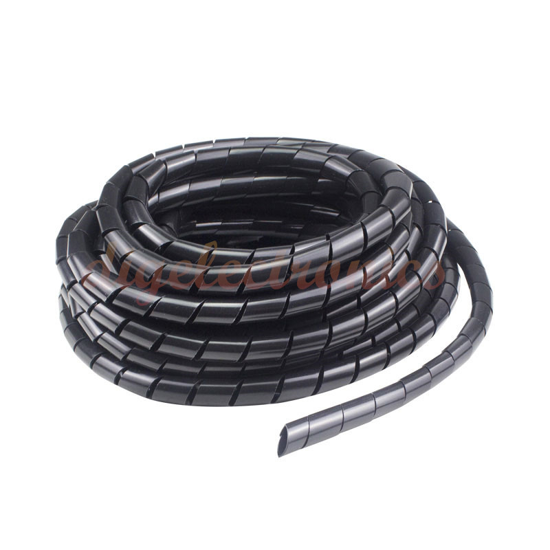 1M 4/6/8mm Cable Winder Spiral Wire Organizer Wrap Tube Sleeve For DIY Steering Gear DC Motor Servo Smart Robot Arm Car Chassis