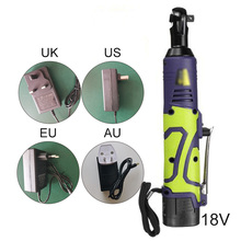 powerful 18V engine 3/8 Inch 50n.m Rechargeable Wireless Electric Ratchet Wrench 110-240V with US/UK/EU/AU Charger & Battery