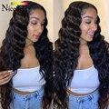 Nicelight, свободные парики с глубокой волной, парики на сетке 4x4, бразильские парики из человеческих волос для черных женщин, безклеевые парики ...