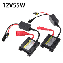 2pcs 12V 55W HID Ballast Replacement Slim Ballast Car Xenon Light Kit for H1 H3 H4 H7 H8 H9 9003 9004 9005 9006 Headlamp hid xenon kit h4 conversion kit h1 h3 h4 1 h7 h8 h9 h10 h11 single beam 35w 1set 12v xenon hid kit
