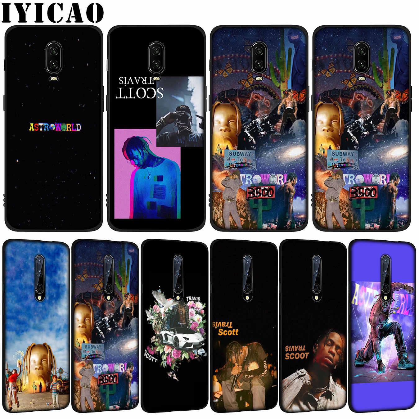 Astrodome de Travis Scott pop suave TPU de silicona negro teléfono caso OnePlus 7T 7 Pro 6T 5T 5 uno más 7Pro cubierta