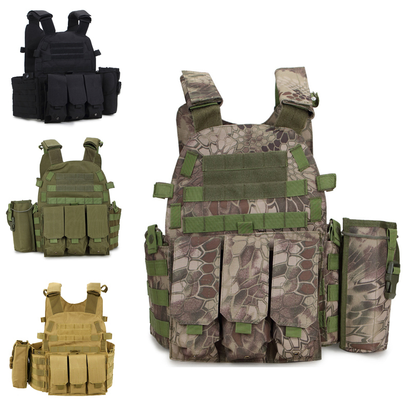 Airsoft Military Tactical Vest Molle Combat Assault Plate Carrier