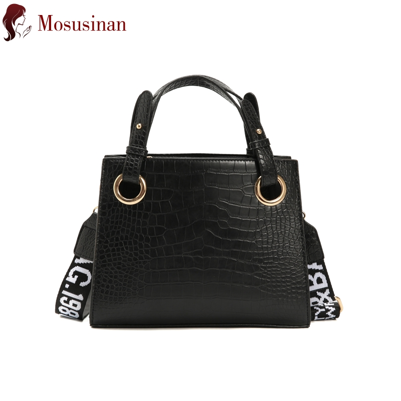 Luxury Handbags Women Bags Designer Leather Shoulder Crossbody Bags For Women 2019 Fashion Messenger Bag Ladies Hand Bags Black