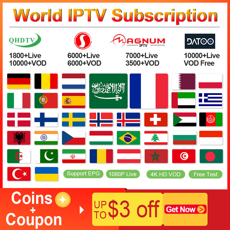 IPTV Netherlands Sansat/Datoo IPTV Subscription Android M3u IPTV Arabic Germany Belgium Spain Portugal Greek Sweden Italy IP TV