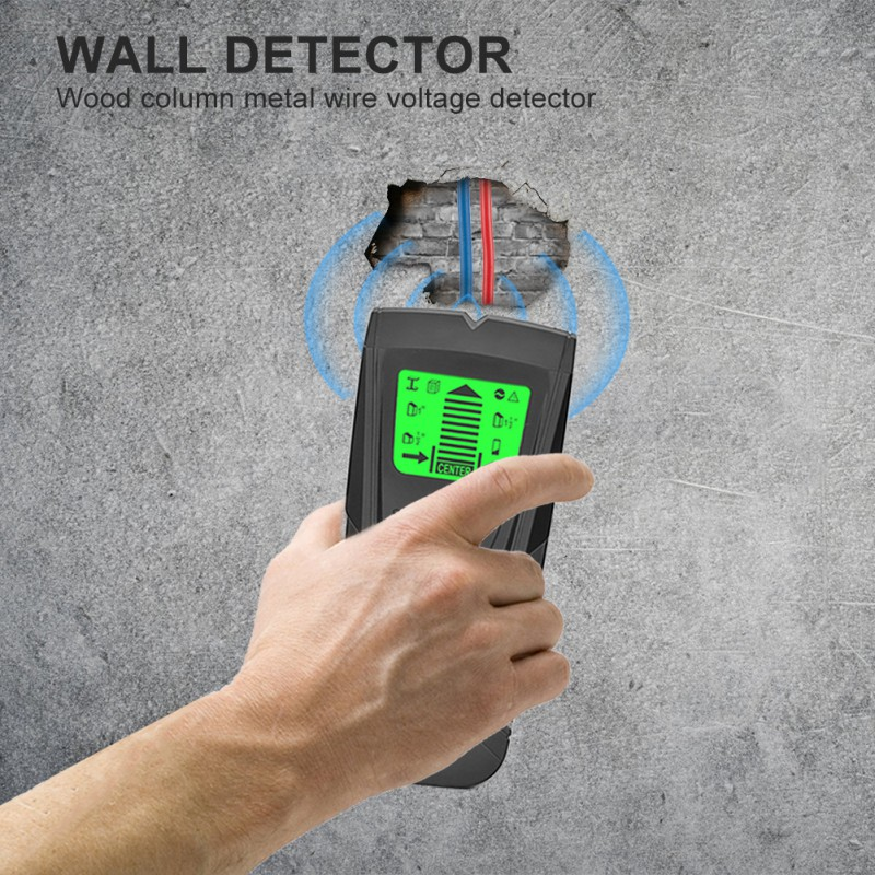LCD Display Professional Wire Cable Tracker Metal Pipe Locator Detector Tester Line Tracker 3 In 1 Portable Wall Stud Sensor