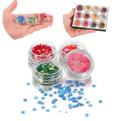 12Bottles/Box Star Sequins Powder Epoxy Resin Jewelry Fillings Heart Glitter Sequin Epoxy Mold For DIY Jewelry Making Nail Art