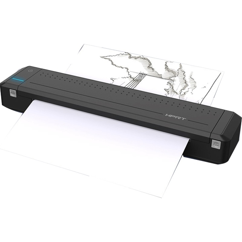 A4 Paper Portable Printer Thermal Transfer Mini Bluetooth USB Printer Home Business With Built-in Battery To Print At Any Time