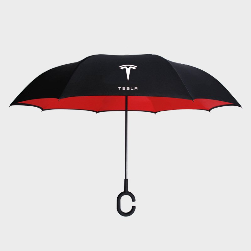 High Quality Double Layer For Tesla Logo Fully Automatic Umbrella Car Styling Stickers For Tesla MODEL S MODEL X MODEL 3 MODEL Y