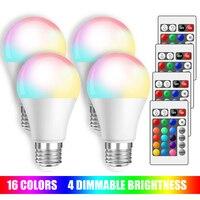 Лампочка E27 RGB для светильников, 16 цветов