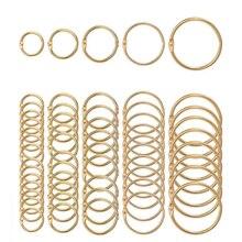 5Pcs Metal Notebook Rings Gold Binder Hinged Ring School Loose Leaf Opening Circle Hoops For Scrapbook Album Office Binding
