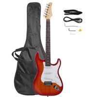 Rosewood Fingerboard Electric Guitar Sunset Red Suitable for Novice Beginners Home Teaching