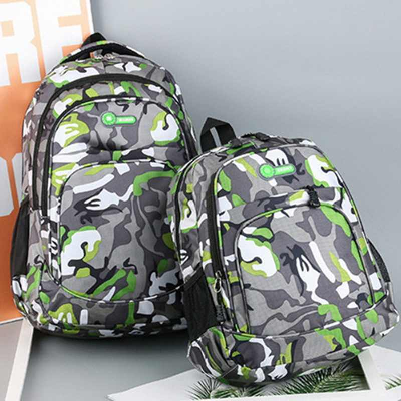 2 Sizes Camouflage Waterproof School Bags for Girls Boys Orthopedic Children Backpacks Kids Book Bags Mochila Escolar Schoolbags