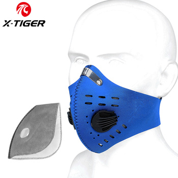 X-TIGER Cycling Face Mask PM 2.5 Bike Mask Activated Carbon Breathing Valve Sports Masks With Anti-Pollution Filter 11