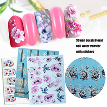 цена на 1 Sheet 5D Nail Butterfly Nail Watercolorful Transfer Nail Art Stickers Decals For Nail Art Decoration Manicure Tips Nail Decals