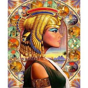 Алмазная живопись 5D «сделай сам», египетская богиня, алмазная вышивка Клеопатра, домашний декор, Алмазная мозаика, настенная, хороший подар...