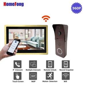 Image 2 - Homefong 10 Inch Wifi Wireless Video Door Phone Doorbell Smart Video Intercom Door Bell Alarm 960P Metal Case Unlock Record
