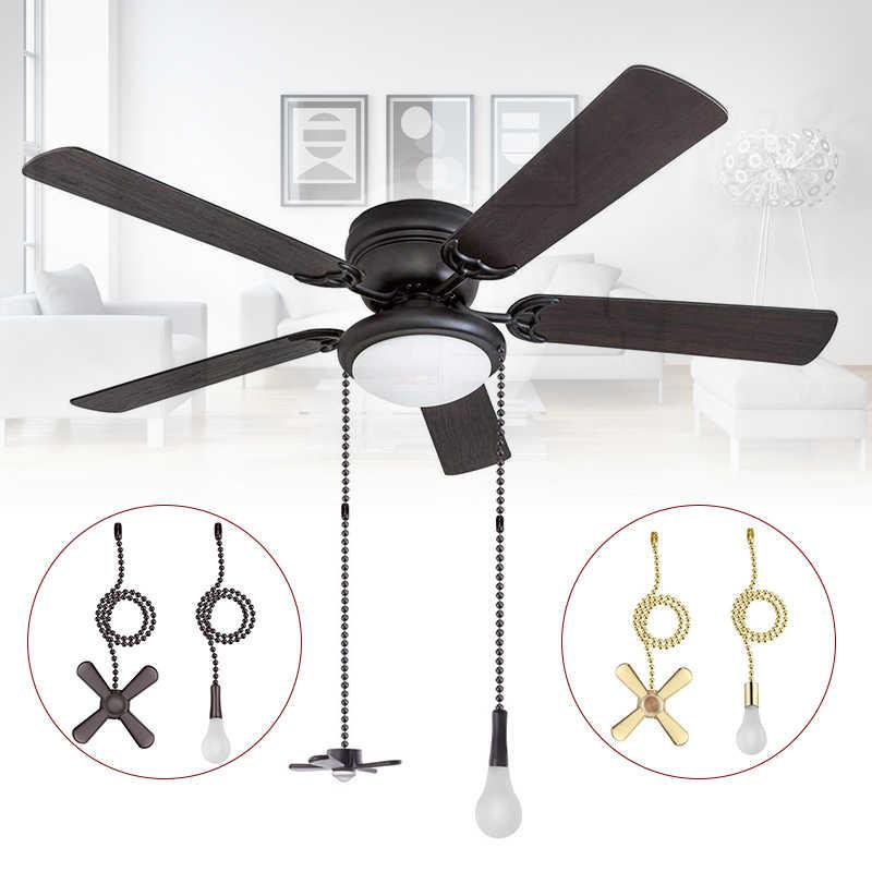 1 conjunto Ventilador de Teto Puxar Cadeia Frisado Bola Ventilador Puxa Puxa Cadeia Definir com Conector SLC88