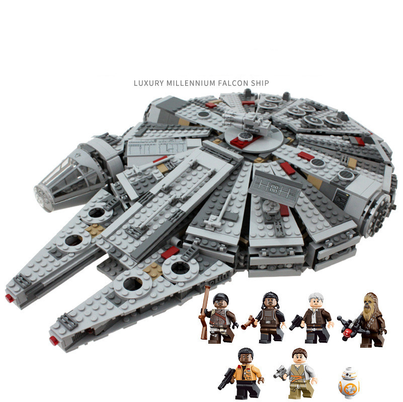 1381pcs Building Blocks Compatible with Legoingly 75105 Starwarsly Series Millennium Force Awakens Falcon 69900 for Children image