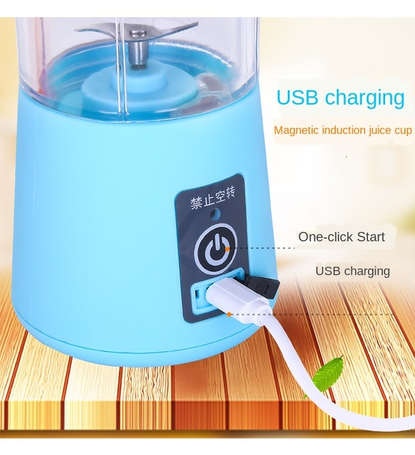 Multi Functional Mini Portable 6 Blades Electric Juicer Mixer USB Rechargeable Household Juice Blender Fruit Cooking Machine 4