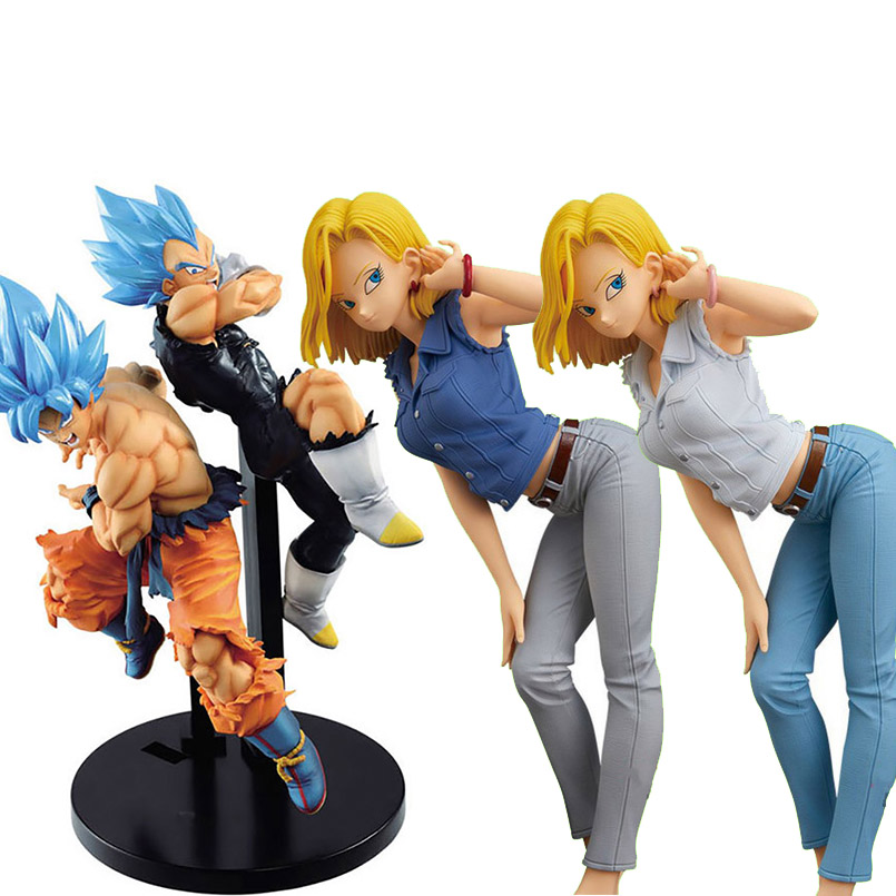 Japanese Anime Dragon Ball Z Vegeta Goku PVC Action Figure Toys Blue/black Hair Vegeta Goku Collectible Model Toy Christmas Gift