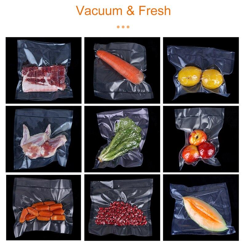 White Dolphin 3 Rolls Vacuum Food Storage Bag 12 15 20 25 X 500CM Kitchen Food Seal Bag For Vacuum Sealer Packaging Machine
