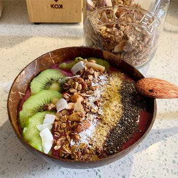 Miska kokosowa łyżka kokosowa widelec kokosowy nóż kokosowy bezpieczny i przyjazny dla środowiska dekoracja żywności i stołu gorąca sprzedaż tanie i dobre opinie CN (pochodzenie) Ręcznie malowane CE UE Lfgb JEDNA Miski Ekologiczne Na stanie coconut Stałe 1l