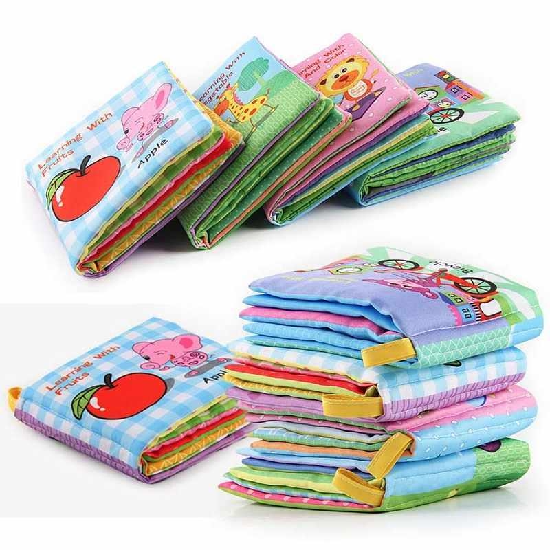 Sonajeros móviles para bebés, juguete suave, libro de tela animales cochecito para recién nacido, juguete colgante para bebé, aprendizaje temprano, educativo, libros de tela