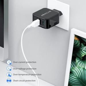 Image 5 - BlitzWolf QC3.0 USB adaptateur voyage mur ue prise chargeur téléphone portable chargeur rapide pour iPhone 11X8 Plus pour Samsung Smartphone