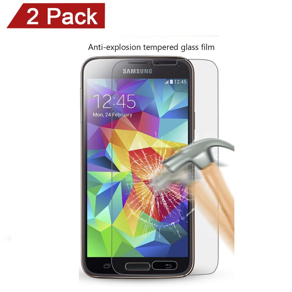 2pcs Tempered Glass Screen Protector For Galaxy S5 i9600 G900 G900F G900A Film For Samsung Galaxy S5 Neo SM-G903F/DS G903F G900F(China)