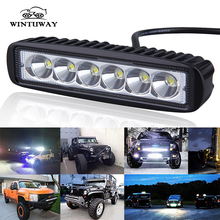 WINTUWAY Driving Fog Offroad LED Work Car Light 18W 12V Universal 4WD led Beams Bar Spotlight Flood Lamp