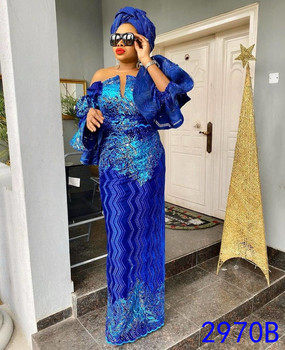 XIYA синие нигерийские бархатные кружевные ткани 2020 высокое качество кружева АФРИКАНСКАЯ французская кружевная ткань с блестками для платья