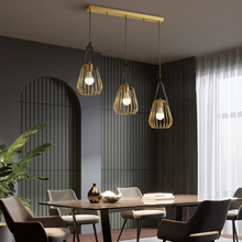 All-copper dining room lamp pendant lamp  simple industrial wind pendant   lamp creative personality bar lamps and lante